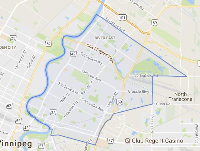 карта района River East
